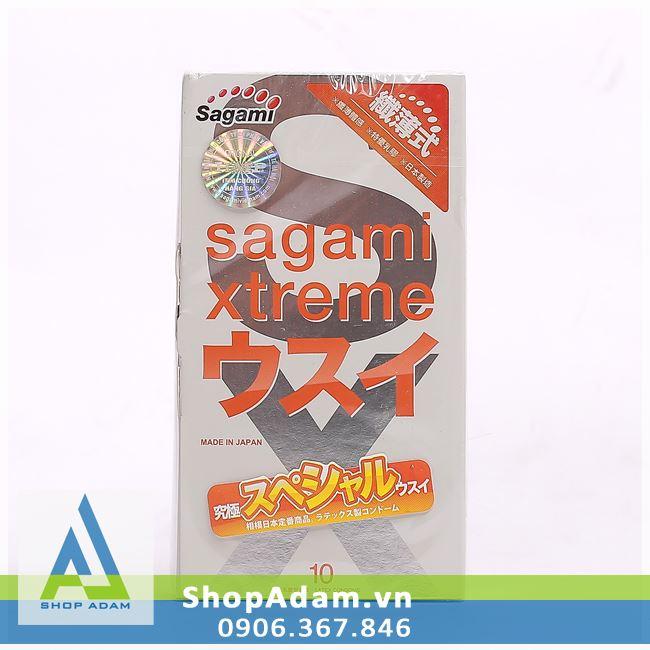 Bao cao su mỏng Nhật Bản SAGAMI Xtreme Super Thin (Hộp 10 chiếc)