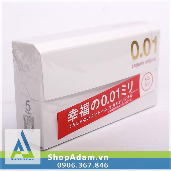 Bao cao su siêu mỏng SAGAMI Original 0.01 (Hộp 5 chiếc)