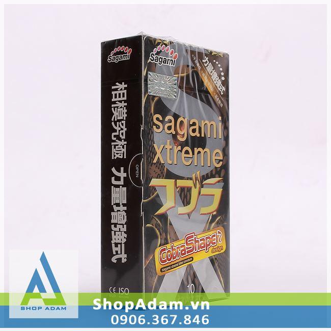 Bao cao su siêu mỏng hổ mang SAGAMI Xtreme Cobra (Hộp 10 chiếc)