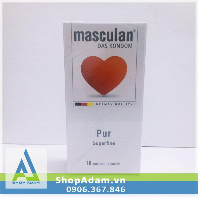 Bao cao su siêu mỏng Masculan Pur - Đức (Hộp 10 chiếc)