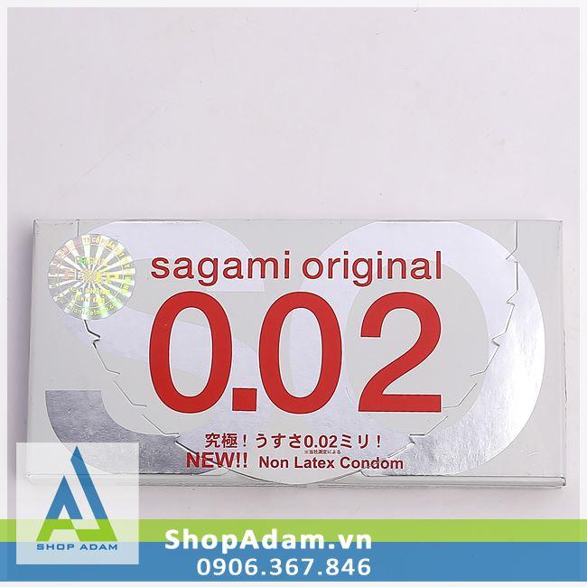 Bao cao su siêu mỏng SAGAMI Original 0.02 (Hộp 2 chiếc)