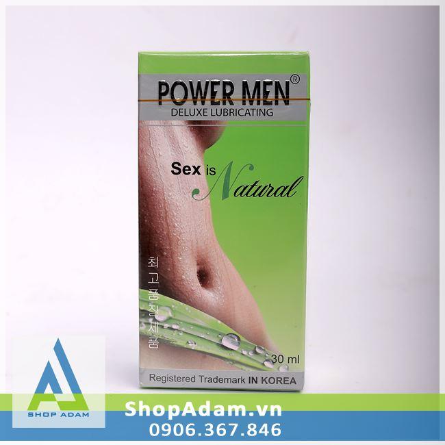 Gel bôi trơn gốc nước Hàn Quốc - POWER MEN Deluxe Lubricating - 50ml
