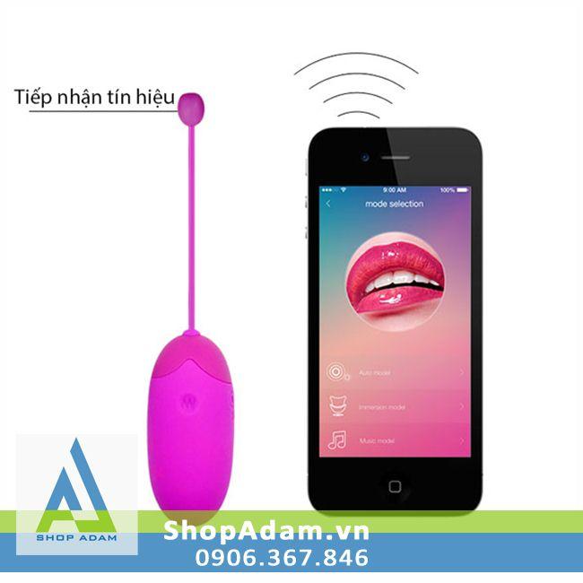 Trứng rung không dây điều khiển bằng smartphone Pretty Love Abner