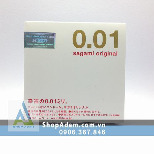 Bao cao su Nhật Bản mỏng nhất thế giới SAGAMI Original 0.01 (Hộp 1 chiếc)