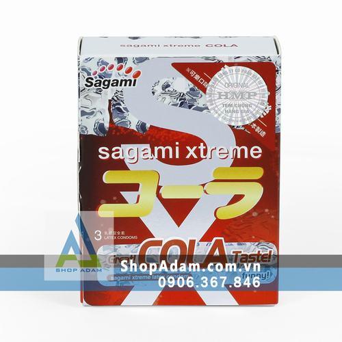Bao cao su Nhật Bản có hương thơm SAGAMI Xtreme Cola (Hộp 10 chiếc)
